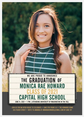 Marquee Sign Graduation Cards