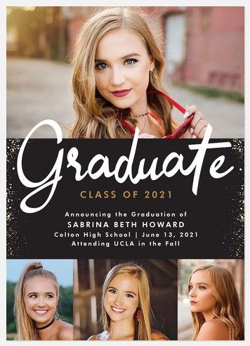 Head of Class Graduation Cards