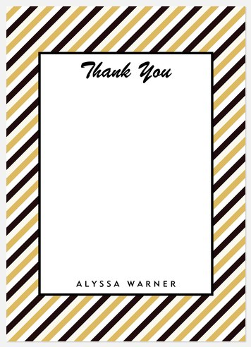 Bold Pennant Thank You Cards