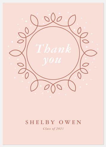 Luxe Emblem Thank You Cards