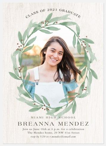 Watercolor Foliage Graduation Cards