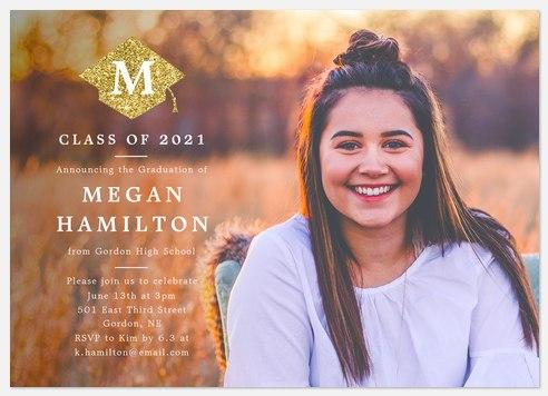 Glittering Cap Graduation Cards