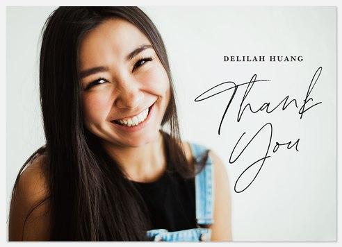 Subtle Signature Thank You Cards