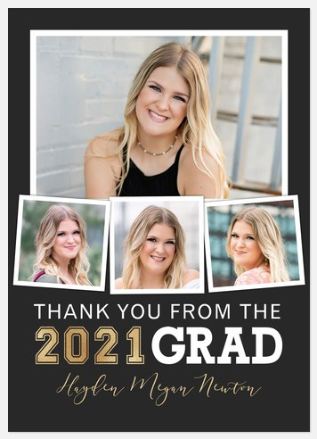 Grad Tassel Collage Thank You Cards