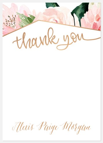 Modern Floral Thank You Cards