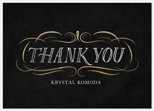 Engraved Flourish Thank You Cards