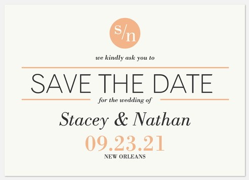 Sophisticated Minimalist  Save the Date Photo Cards