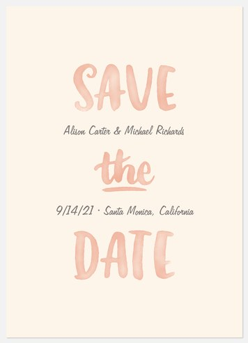 Watercolor Script Save the Date Photo Cards