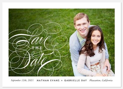 Elegant Script Save the Date Photo Cards