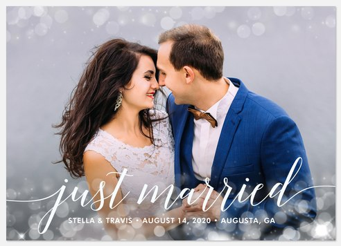 Simple Sparkle Wedding Announcements