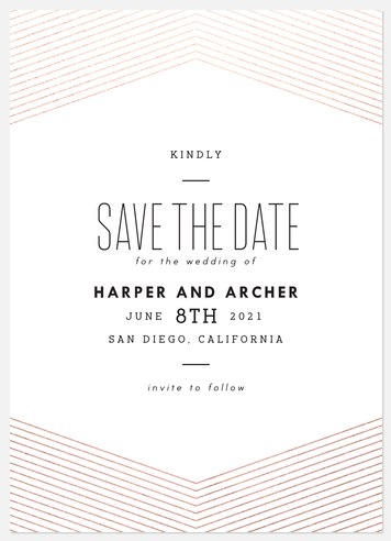 Radiant Chevron Save the Date Photo Cards