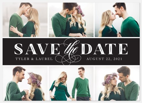 Black and White Chic Save the Date Photo Cards