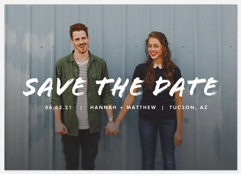 Artistic Inspiration Save the Date Photo Cards