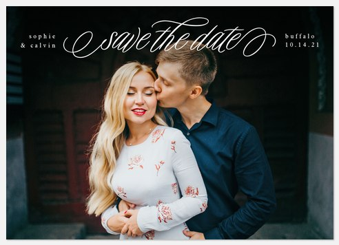 Beautiful Swirl Save the Date Photo Cards