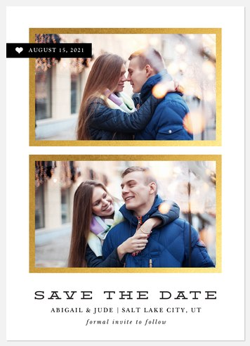 Love Double Save the Date Photo Cards
