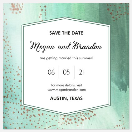 Mod Watercolor Save the Date Photo Cards