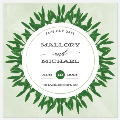 Wild Wreath Save the Date Photo Cards