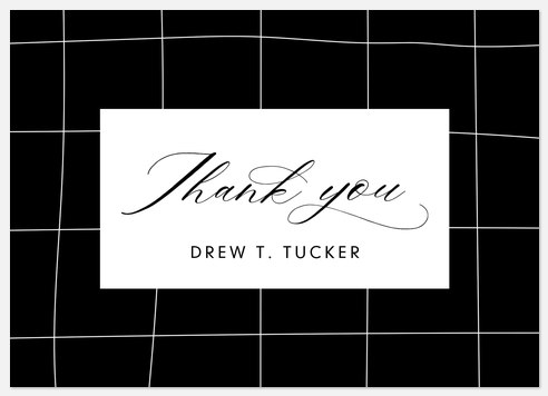 Classic Penmanship Thank You Cards