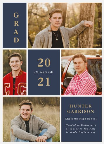 Studious Collage Graduation Cards