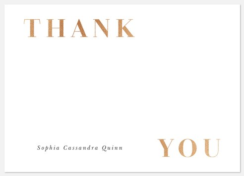 Classic Thank You Cards