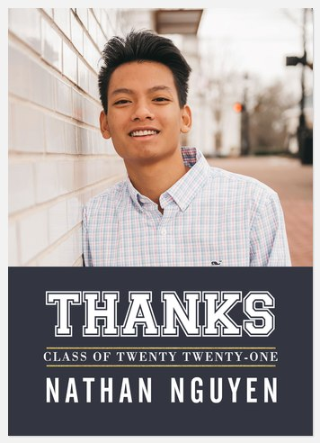 Lettered Grad Thank You Cards