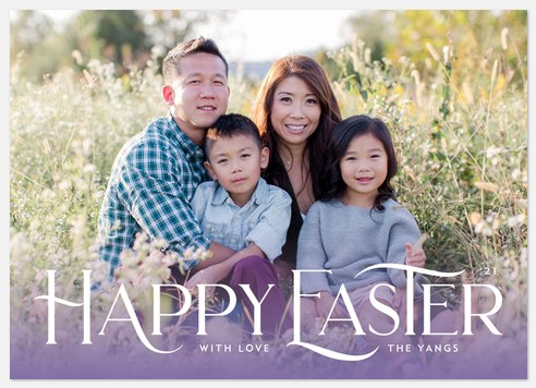 Spring Gradient Easter Photo Cards