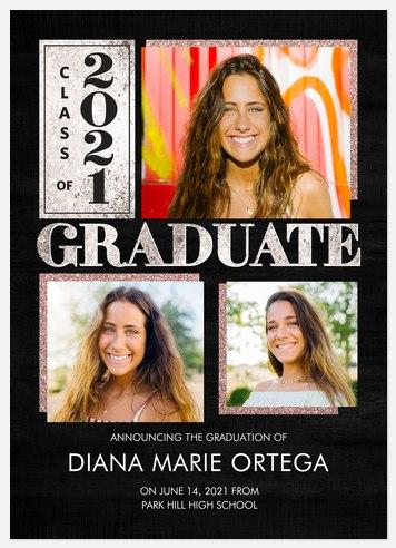 Glam Sparkles Graduation Cards