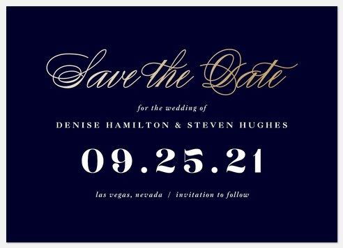 Formal Reminder Save the Date Photo Cards