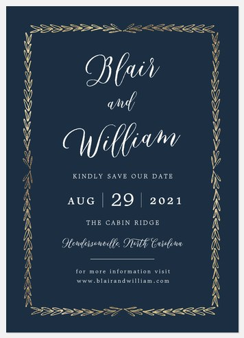 Sketched Border Save the Date Photo Cards