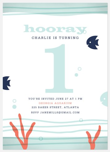 Under the Sea Kids' Birthday Invitations