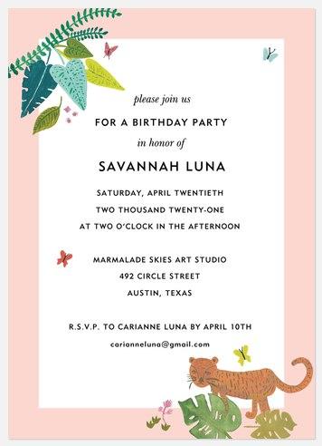 Into the Wild Kids' Birthday Invitations