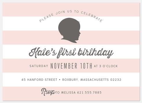 Sweet Stripes Kids' Birthday Invitations