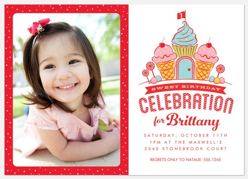 Candy Castle Kids' Birthday Invitations
