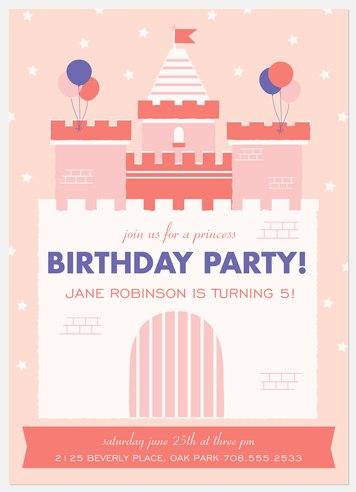Sweet Castle Kids' Birthday Invitations