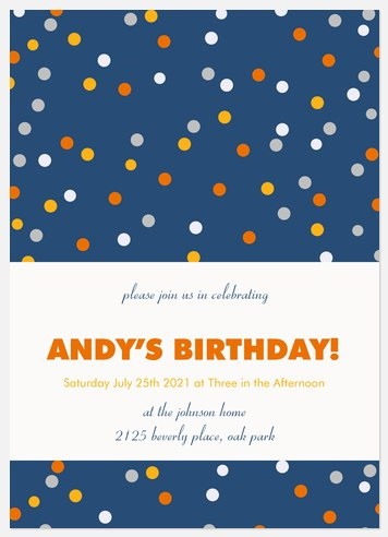 Confetti Fun Kids' Birthday Invitations