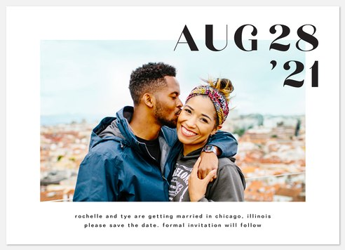 Simply Modern Save the Date Photo Cards