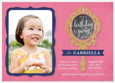 Dress Up Mirror Kids' Birthday Invitations