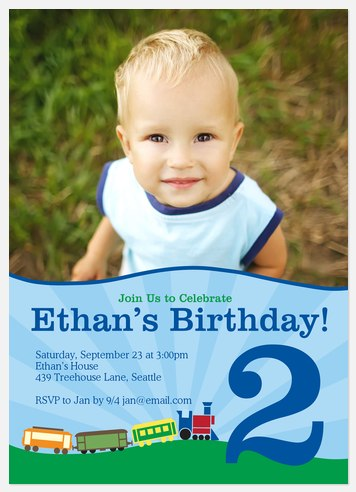 Hill 'n Dale Kids' Birthday Invitations