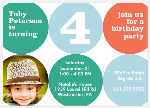 Bounce & Play Kids' Birthday Invitations