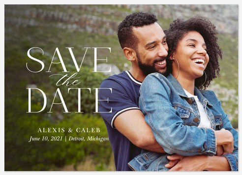 Classical Serif Save the Date Photo Cards