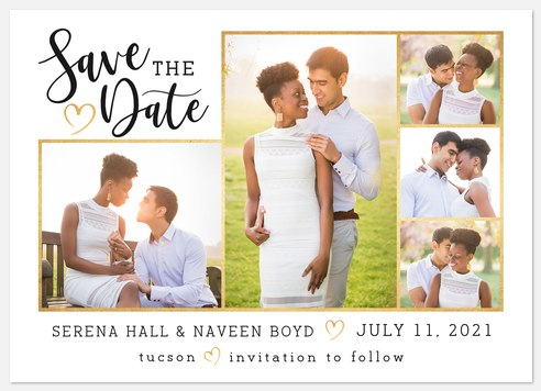 Sweetheart Collage Save the Date Photo Cards
