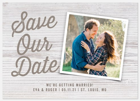 Picket Fence Save the Date Photo Cards
