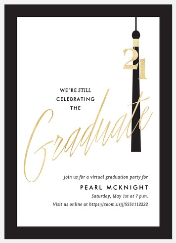 Virtual Tassel Graduation Cards