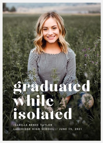 While Isolated Graduation Cards