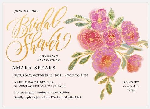Botanical Bouquet Bridal Shower Invitations