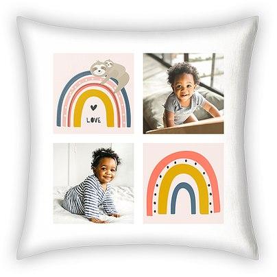 Rainbow Sloth Custom Pillows