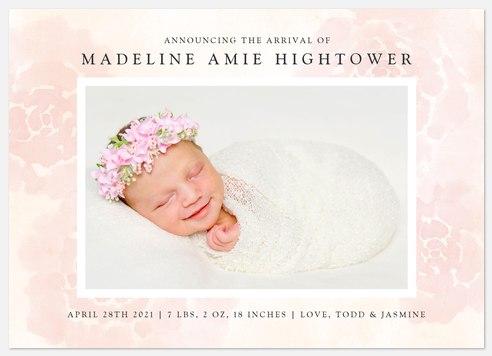 Dreamy Florals Baby Birth Announcements