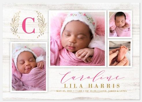 Farmhouse Chic Baby Birth Announcements