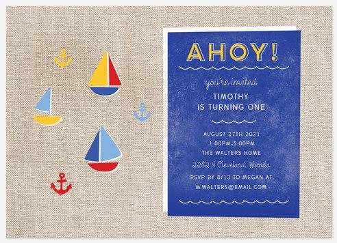 Nautical Kids' Birthday Invitations