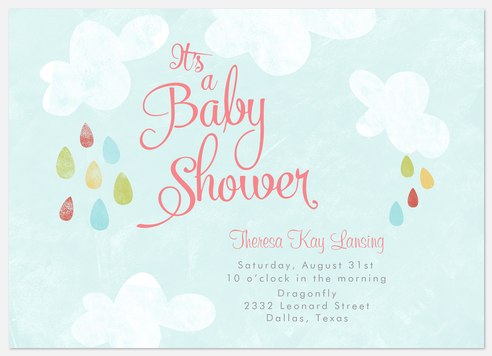 Happy Showers Baby Shower Invitations